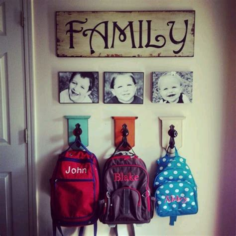 entryway backpack storage backpack storage love it for the home pinterest