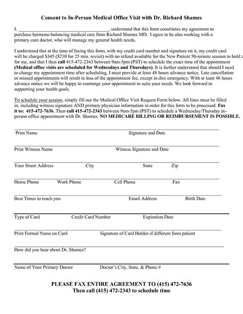 Best Photos Of Sle Medical Office Forms Medical Office Hipaa Form Sle Medical Office Doctor Visit Form Template