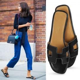 Sandal Sendal Hak Heels Hermes Oran Mirror Quality Branded Wanita Cewe hermes oran sandals calfskin slippers replica 75 replicaunion