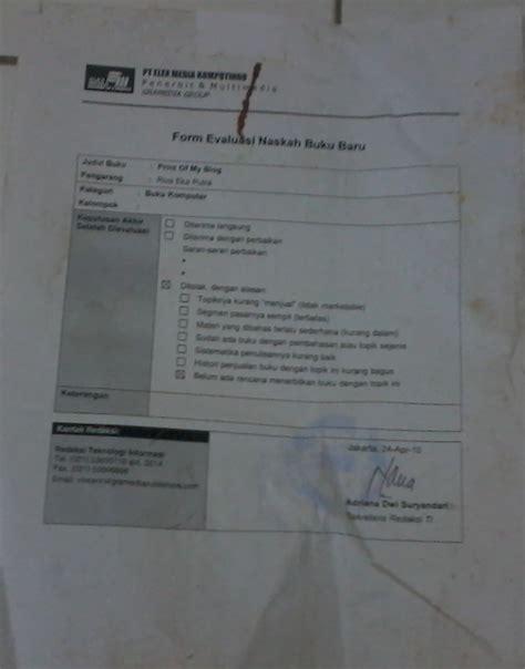 contoh surat penolakan dari penerbit pt elex media komputindo