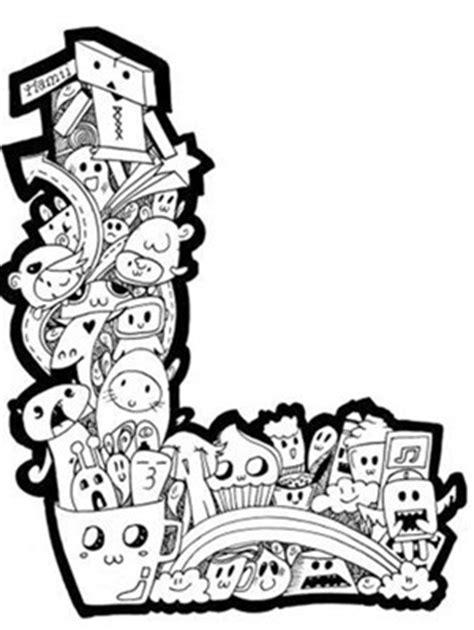 doodle name berwarna 100 contoh gambar doodle sederhana yang mudah di tiru