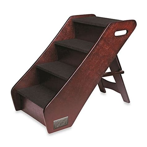 pet stairs for bed animal planet wooden pet stairs www bedbathandbeyond com