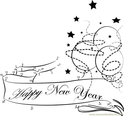new year join the dots new year decoration dot to dot printable worksheet