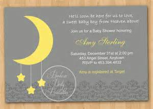 baby shower moon and theme moon and baby shower invitation diy custom printable
