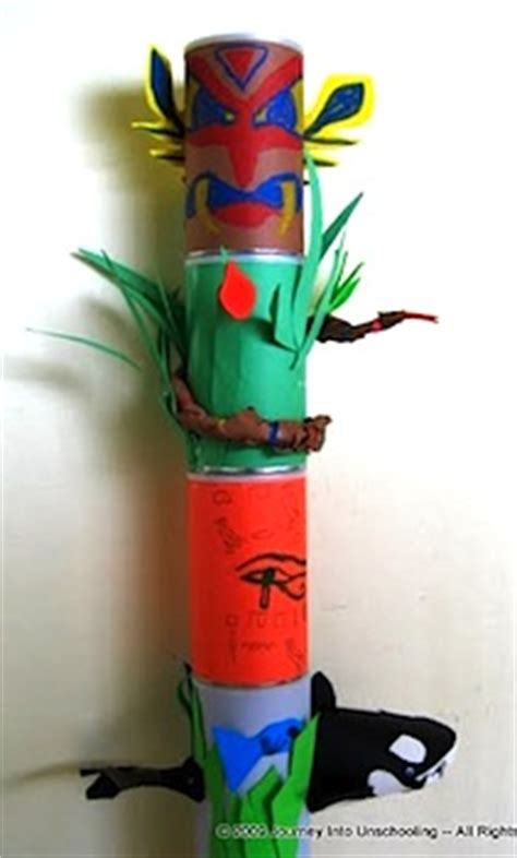 How To Make A Paper Totem Pole - tin can totem pole things to make and do crafts and