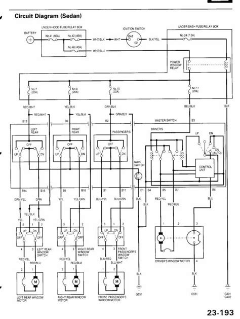 1995 honda accord power window wiring diagram honda auto