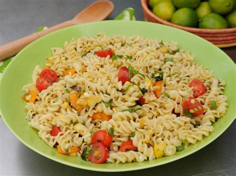 pasta salad vegetarian colorful veggie pasta salad recipe katie lee food network
