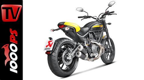Motorrad Videos Ducati by Video Akrapovic Auspuffanlage F 252 R Ducati Scrambler