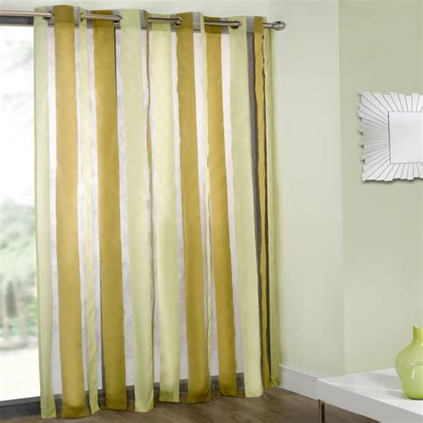 voile eyelet curtains cheap cairo organza stripe voile eyelet curtain panel ebay
