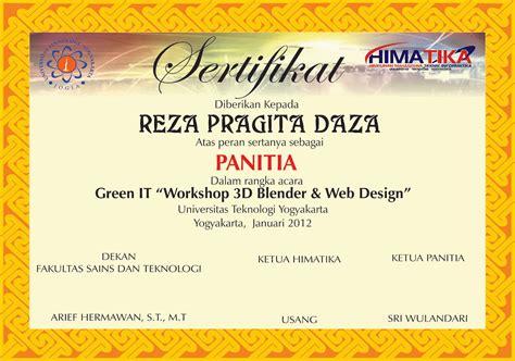 contoh sertifikat seminar