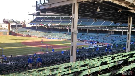 section 204 wrigley field wrigley field section 205 chicago cubs rateyourseats com