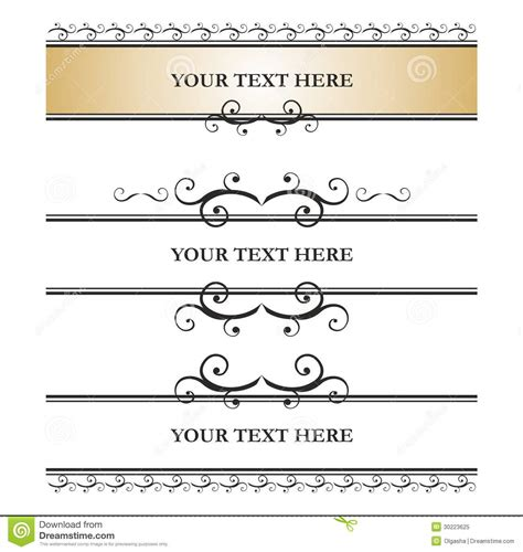 Decorative Text by Dividers For Text Royalty Free Stock Photo Image 30223625