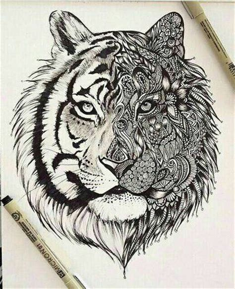 pattern drawing tiger the 25 best ideas about tiger tattoo on pinterest white