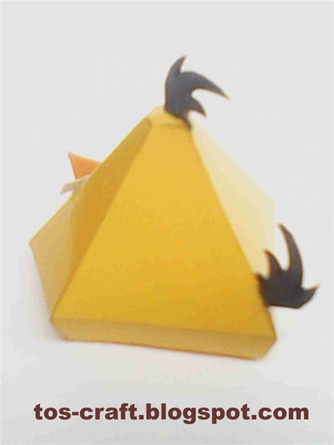Bird Paper Craft - angry birds papercraft chuck angry birds papercraft