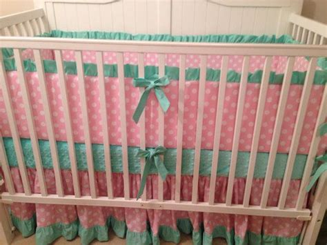 mint green baby bedding pink and mint green nursery idea crib bedding set pink