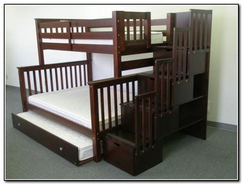 Twin over full bunk bed with stairs and desk beds home furniture