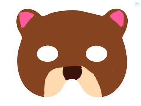 bear mask templates cake ideas and designs