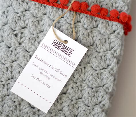 Handmade Knitting Labels - gift labels and tags for handmade items in a stitch