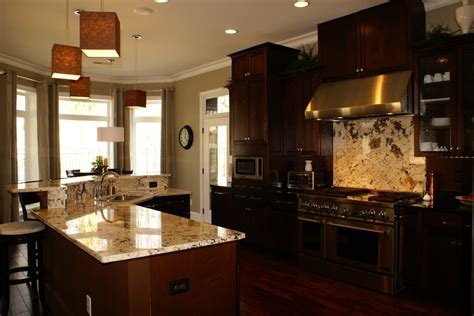 kitchen dark cabinets light granite light granite dark cabinets kitchens pinterest
