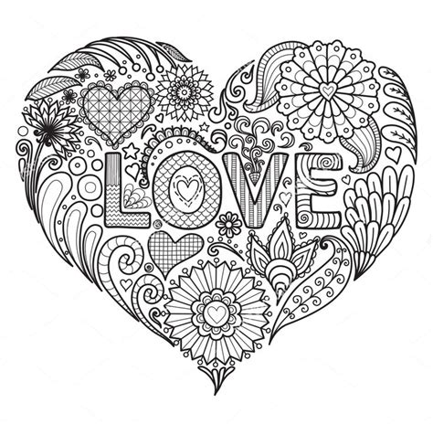 zentangle mandala coloring pages love zentangle coloring page zentangle coloring pages