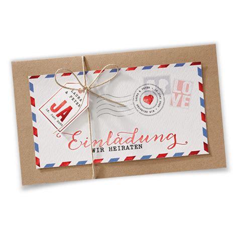 Hochzeitseinladungen Vintage by Hochzeitseinladungen Vintage Luftpost Ba726 038