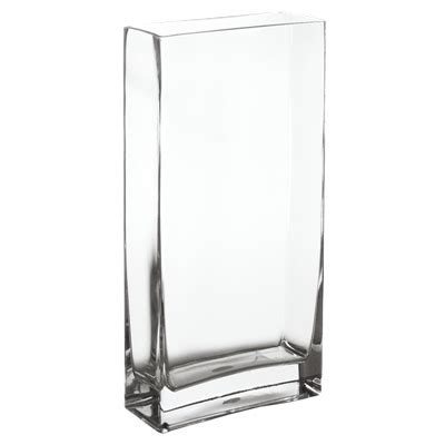 Cheap Rectangle Vases by Wholesale Glass Vases Rectangle Vase H 18 Quot Clear Pack