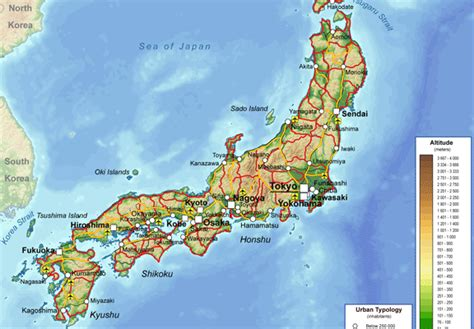 physical map of japan political physical maps of japan free printable maps