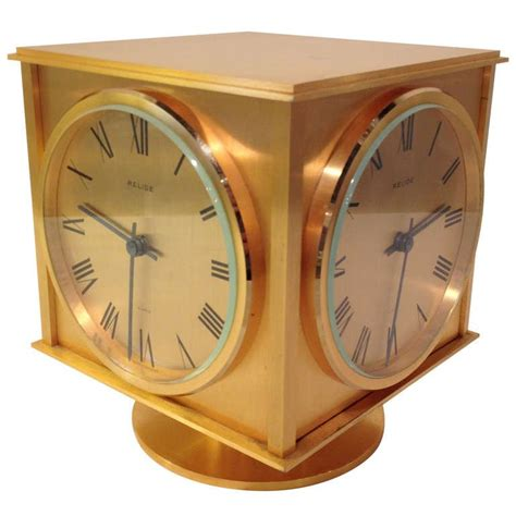 relide french four time zone sided clock rare for sale at