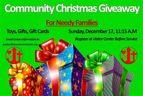 free christmas gifts for low income families