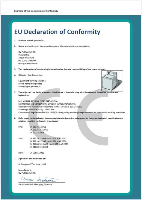ce certificate of conformity template charming declaration of conformity template photos