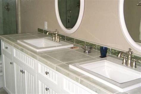 Diy Bathroom Countertop Ideas by Tile Bathroom Countertops Liberty Home Solutions Llc