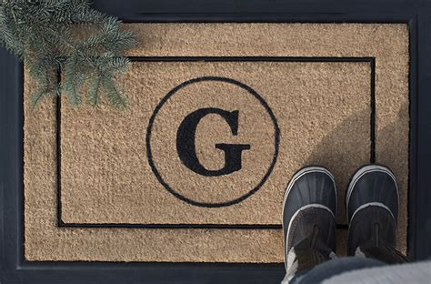 Custom Monogram Doormat For The Holidays Room For Tuesday Monogram Front Door Mat
