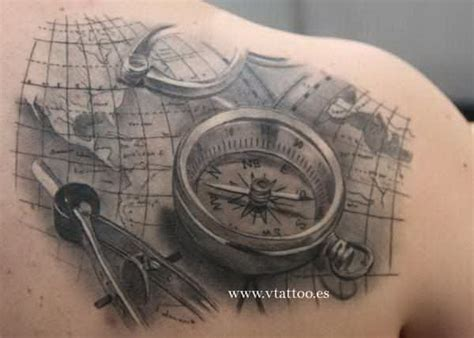 nautical map tattoo compass shoulder 5414263 171 top tattoos ideas