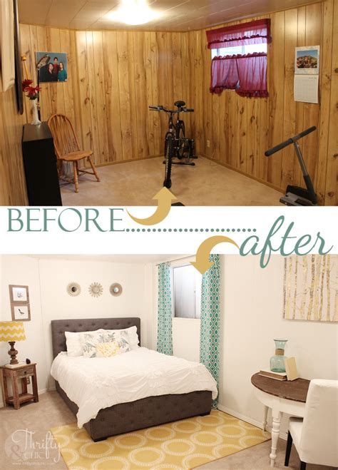 wood paneling makeover before and after thrifty and chic diy projects and home decor