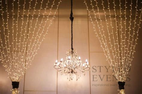 wedding backdrop with lights light backdrop by styled events cascading lights