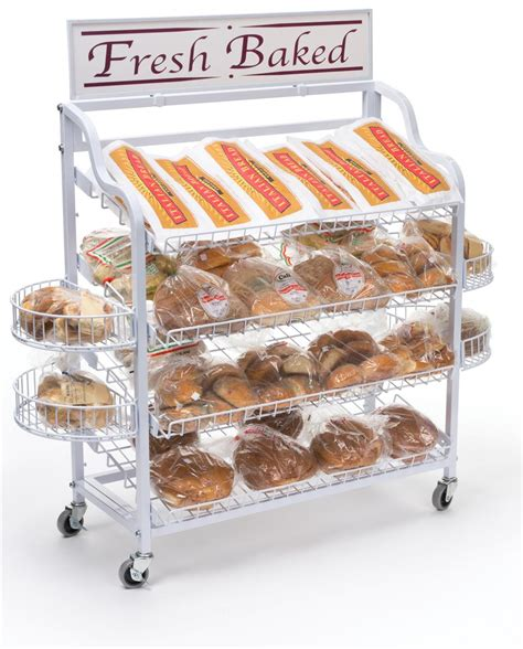 Bakery Display Rack by Wire Bread Racks 4 Included Shelf Attachments