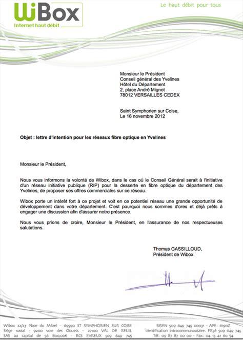 exemple lettre d intention commerciale contrat de