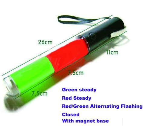led len wand led traffic wand 26cm green led traffic baton