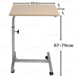 Adjustable Computer Desk On Wheels Adjustable Height Laptop Pc Stand Notebook Table Office
