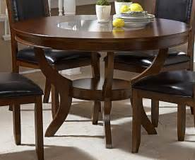 Glass Dining Room Sets For - homelegance avalon round dining table with glass insert