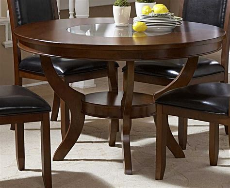 Dining Table With Glass Insert Homelegance Avalon Dining Table With Glass Insert 1205 48 Homelegancefurnitureonline