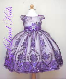 beautiful affordable toddler girls purple easter dresses
