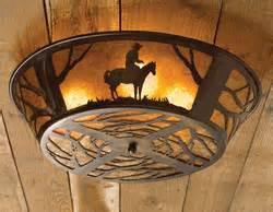 Cowboy Light Fixtures Cowboy Ceiling Light Fixture