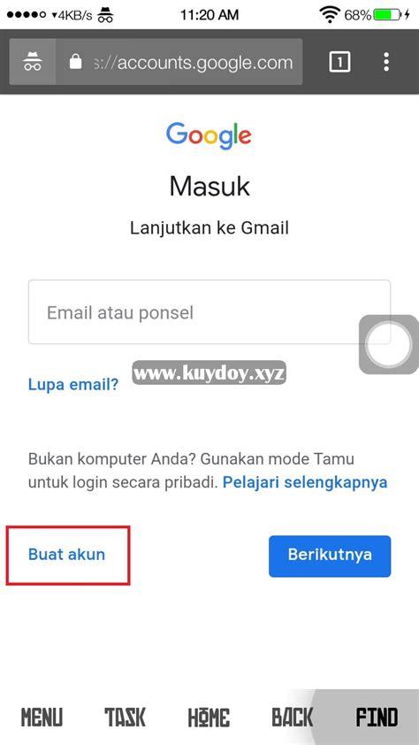 membuat akun gmail  verifikasi nomor hp  android
