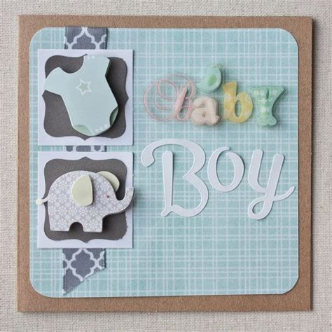 Handmade Baby Boy Cards - baby boy handmade baby boy greeting card