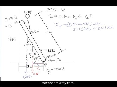 free diagram static equilibrium ladder exle for static equilibrium