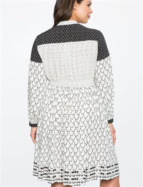 Sleeve Patterned Dress peasant sleeve patterned dress s plus size dresses
