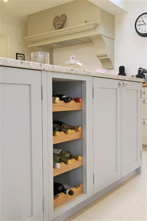 In frame painted shaker kitchen in pavilion grey amp old white traditional kitchen south