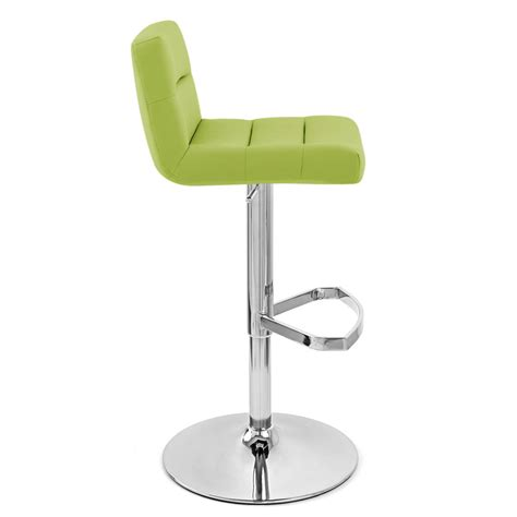 Green Stools by Lime Lattice Adjustable Height Swivel Armless Bar Stool