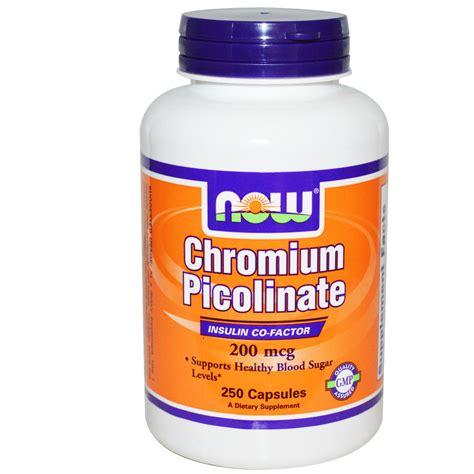 Suplemen Chromium Picolinate Now Foods Chromium Picolinate 200 Mcg 250 Capsules
